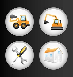 Constructions icons vector