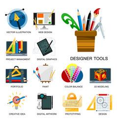 Creativity icons imagination vector