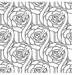 cute graphic flamingo pattern vector image