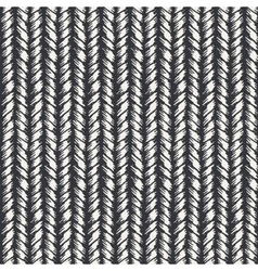 Decorative knit seamless pattern vector
