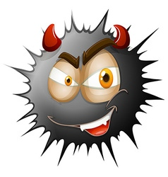 Devil face on black splash vector
