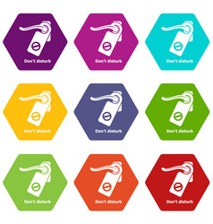 do not disturb icons set 9 vector image