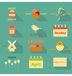 Easter Icons Collection vector