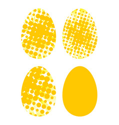 eggs icons set for happy easter greeting card vector image