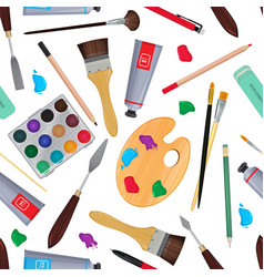 equipment for artists different stationery vector image