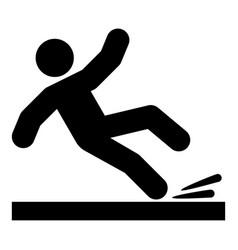 falling man icon black color vector image