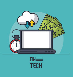 finance and technology vector image