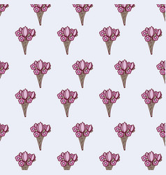 flowers pattern design vector image