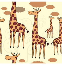 Giraffe pattern vector