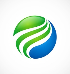 globe sphere swirl finance logo vector image