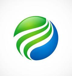 Globe sphere swirl finance logo vector