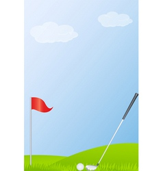 golf course background vector image