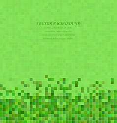 Green abstract pixel square mosaic background vector image