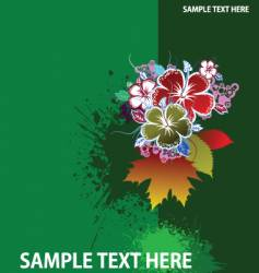 Grunge floral background vector