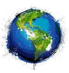 Grungy globe vector