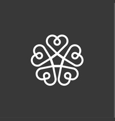 heart pattern flat style quality of vector image