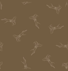 horseradish calligraphy seamless pattern vector image