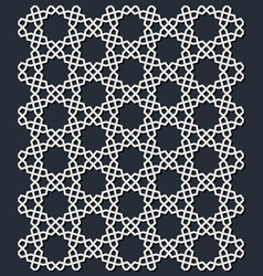 islamic geometric seamless pattern vector image