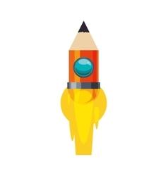 light bulb pencil rocket start up innovation icon vector image