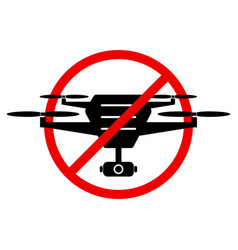 No drone zone sign flights with drone prohibited vector