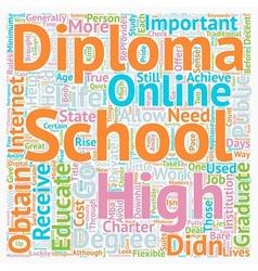Online High School Diplomas text background vector