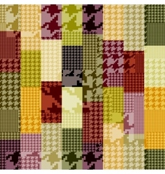 Patchwork of houndstooth vector