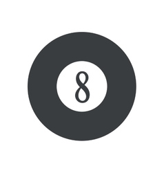 Pictogram billard eight ball game vector