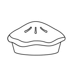 pie dessert food vector image