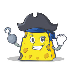 Pirate cheese character cartoon style vector