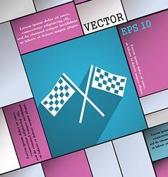 Race Flag Finish icon symbol Flat modern web vector image