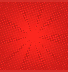 retro rays comic red background vector image