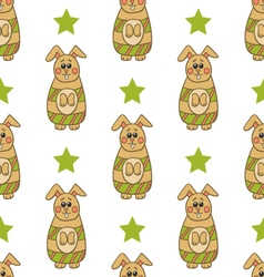Seamless pattern with Easter bunny-2 vector image