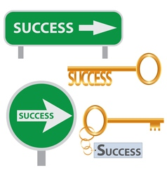 set of success concept arts vector image