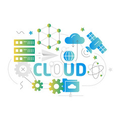 shape lines cloud vector image