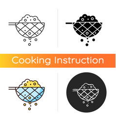 Sift cooking ingredient icon vector