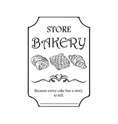 Signboard logo or name for a baking shop with vector