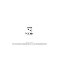 Simple minimalist feminine beauty lash for woman vector