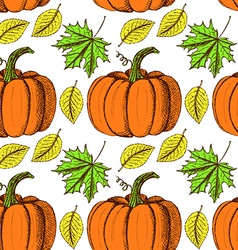 Sketch Thanksgiving seamless pattern vector image