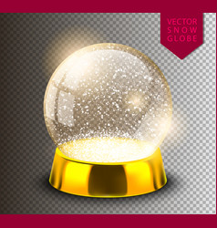 snow globe empty template isolated on transparent vector image