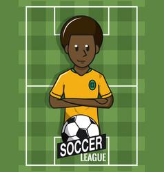 soccer tournament league vector image