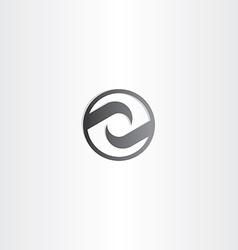 stylized black letter z symbol vector image