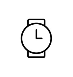Thin line clock wrist watch icon vector