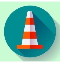 Traffic cone color icon under construction symbol vector image