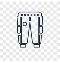 Trouser of a football player concept linear icon vector