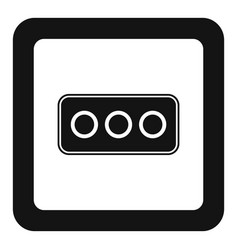 Type l power socket icon simple style vector