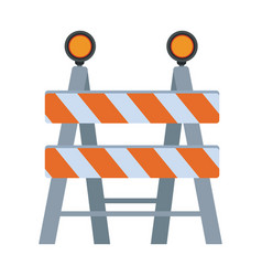 Under construction barrier icon vector