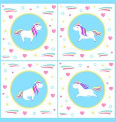 unicorns design of mythological creature vector image