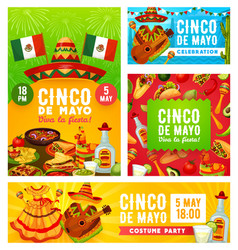 viva mexican cinco de mayo mexico holiday fiesta vector image