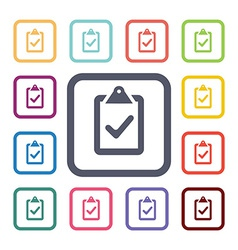 Vote flat icons set vector