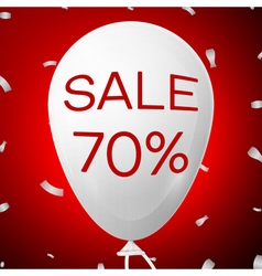 White Baloon with text Sale 70 percent Discounts vector image
